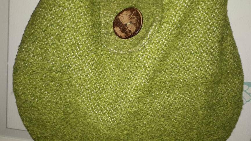 Green Over-the-Shoulder Hobo Bag