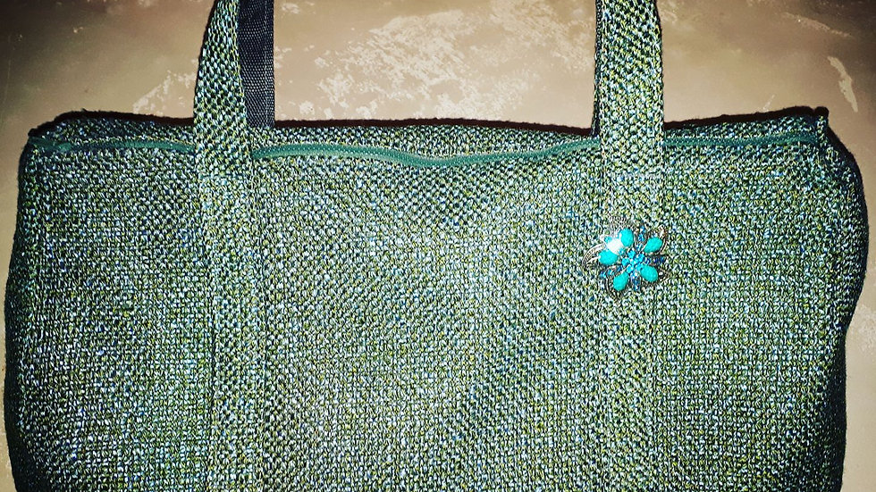 Teal Carpet Bag