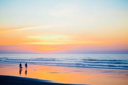 beach sunset by david-straight