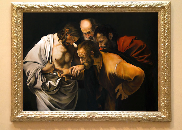 """Unbelief of St. Thomas"", after Caravaggio (1571-1610)"