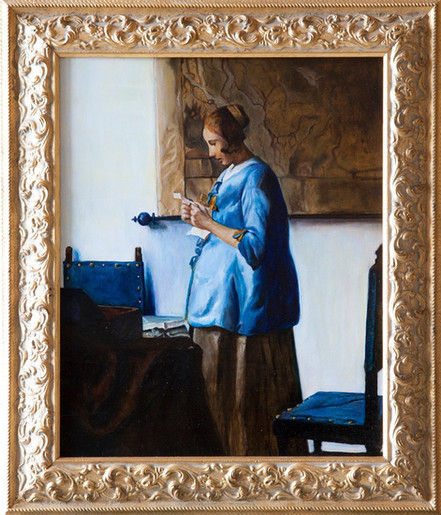 """""""Ragazza in blu che legge una lettera"""""""