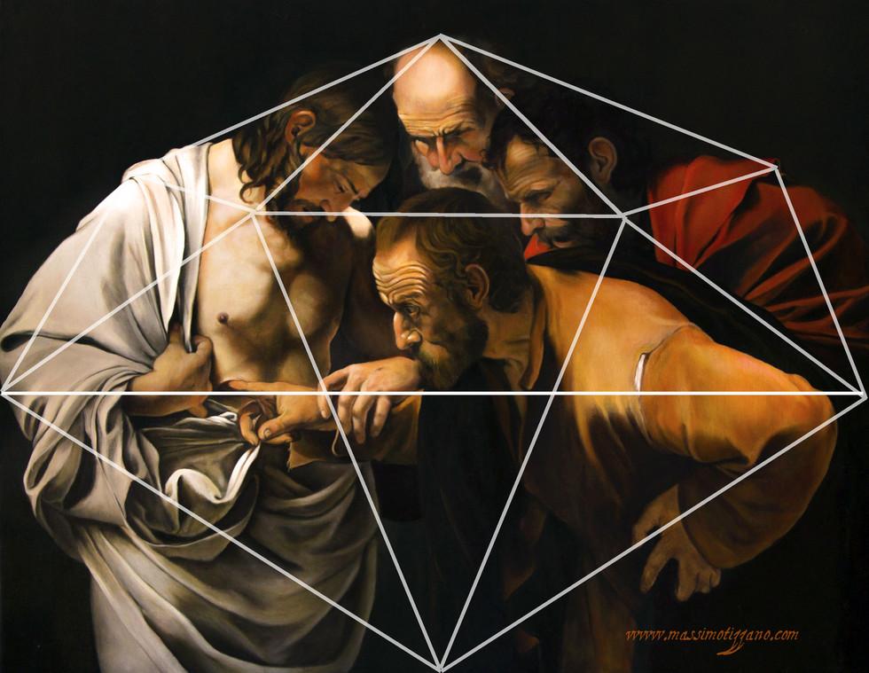 """Il Cerchio e la Croce: breve nota geometrico/simbolica sull """"Incredulità di Tommaso"""" di Ca"""