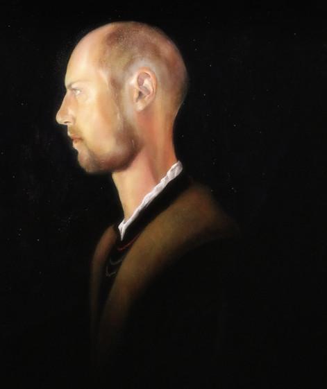 """""""Self portrait in profile"""""""