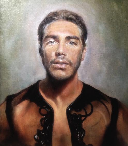 """Head and shoulders"" frontal portrait, approx 50 x 50 cm   Ritratto ""Testa e Spalle"" frontale, circa 50 x 50 cm"