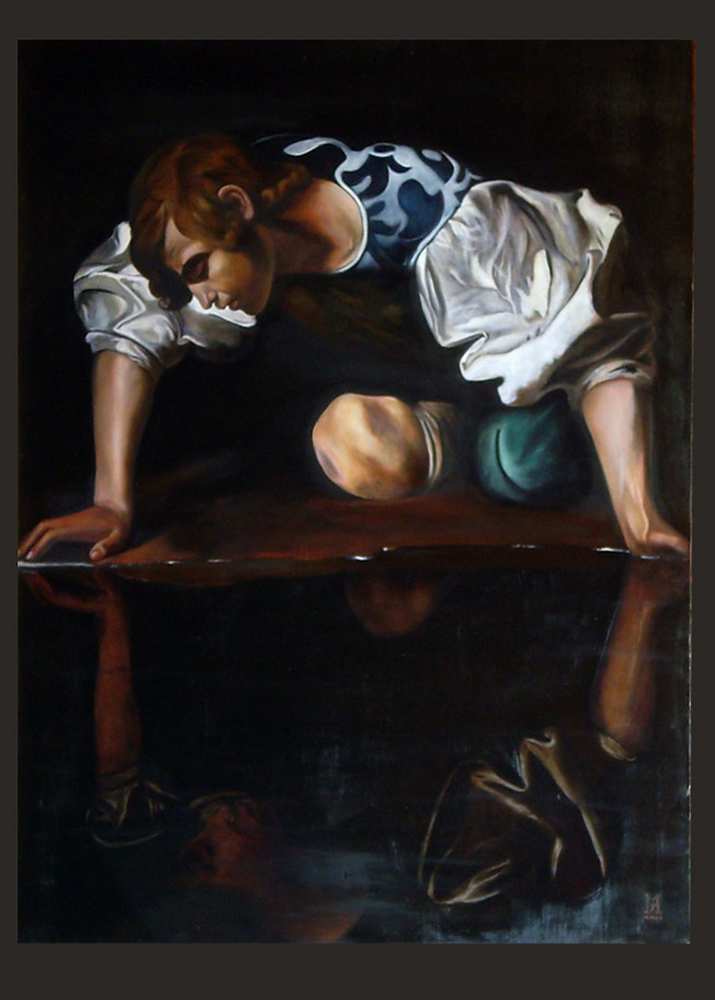 """Narciso"", after Caravaggio"