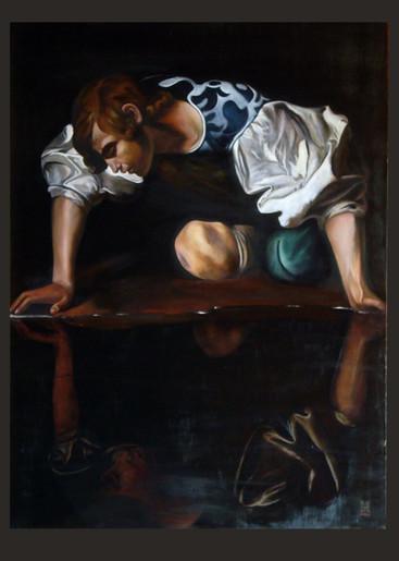"""Narciso"", after Caravaggio"