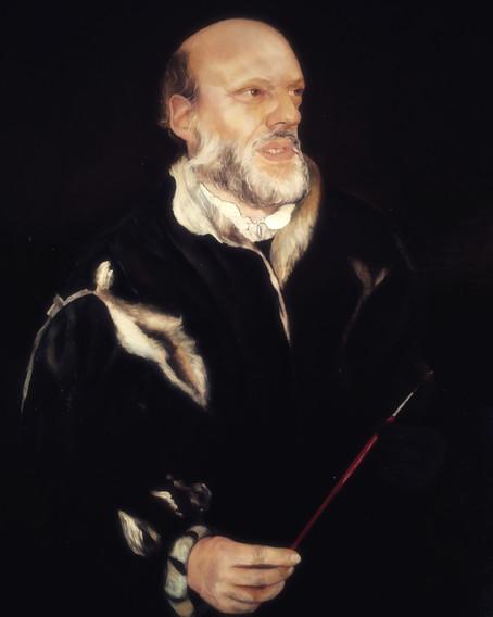 """""""Head and hands"""" portrait, approx 80 x 60 cm    Ritratto """"Testa e Mani"""", circa 80 x 60 cm"""