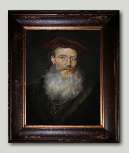 """""""Bearded man with a velvet hat"""""""