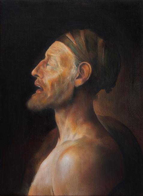 Portrait of old filosopher