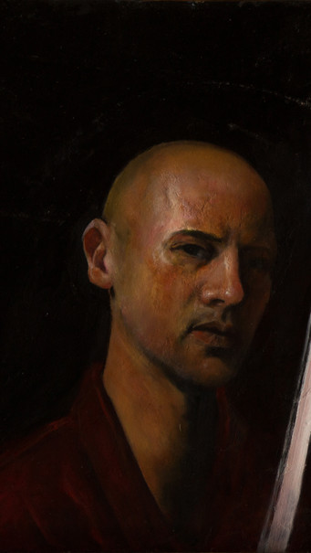"""Selfportrait with katana"""