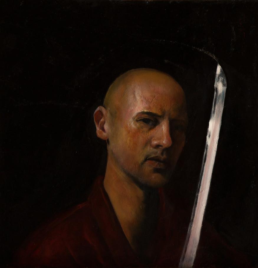 """Selfportrait with katana"""