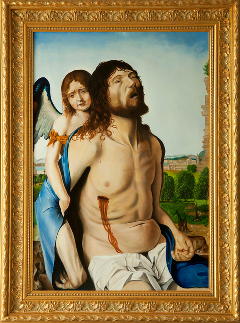 """Cristo morto e un angelo"""