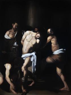 CARAVAGGIO FLAGELLAZIONE DI CRISTO copia