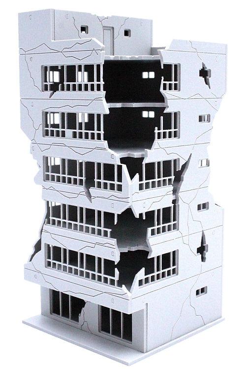 PREZZA BACK GROUND PBG No.3  破壊されたビル 3 (ver.未塗装)