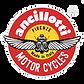 Logo Ancillotti Motorcycles Made in Italy Firenze Scarabeo Ancillotti ali aperte Marchio storico dal 1965