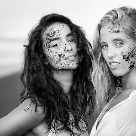 Fashion shoot at sunrise in Pererenan beach, Bali
