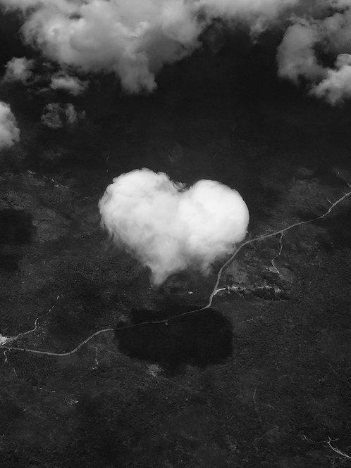Heart cloud over Kuala Lumpur