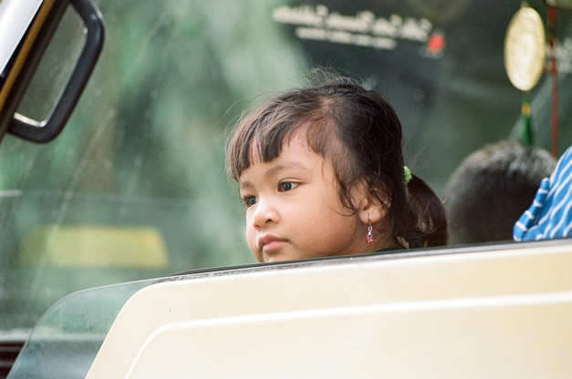 Girl in a truck