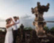 Wedding in Bali couple praying