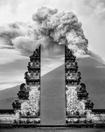 The eruption of Mount Agung
