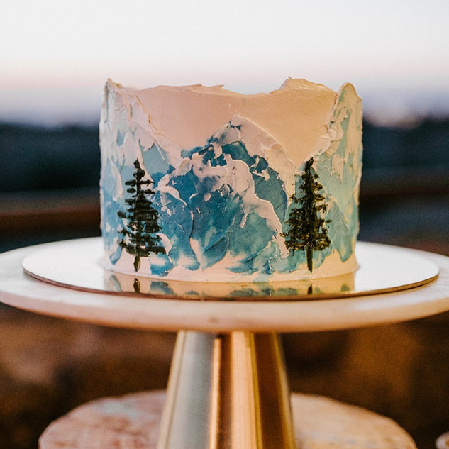 Buttercream mountain cake