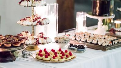 Elegant Dessert bar - selection of mini desserts