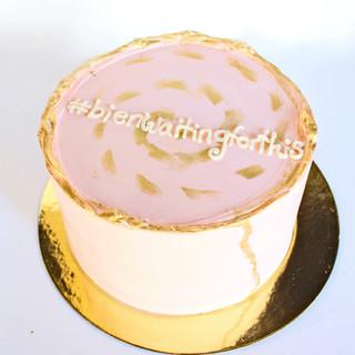 Engagement Hashtag Cake