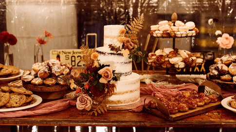 Rustic dessert bar - selection of mini dessert