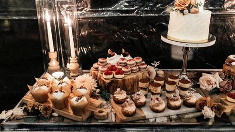 Elopement Dessert Bar - selection of mini desserts