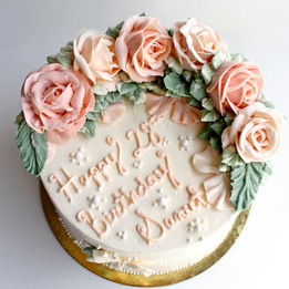 Birthday flower cake with message