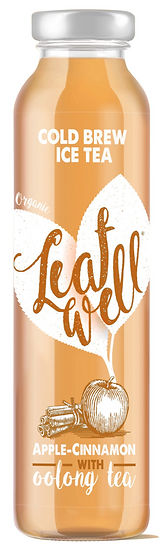 Leafwell ICE TEA APPLE-CINNAMON Bottle 330ml