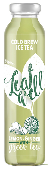 Leafwell ICE TEA LEMON-GINGER Bottle 330ml