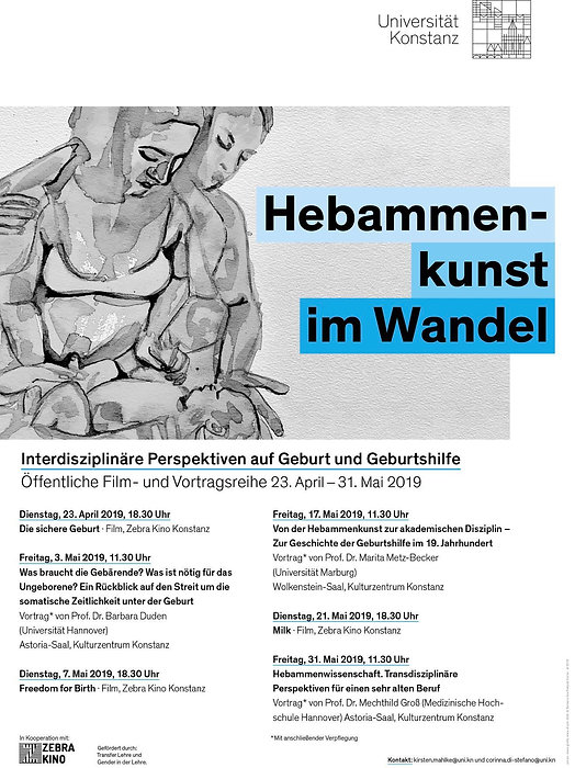 My work about respectful birth is the official image of the lectures in the University of Konstanz