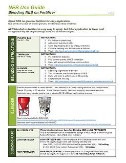 NEB Use Guide, Blending NEB on Fertilize