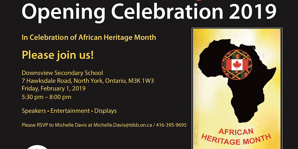 TDSB African Heritage Month Launch