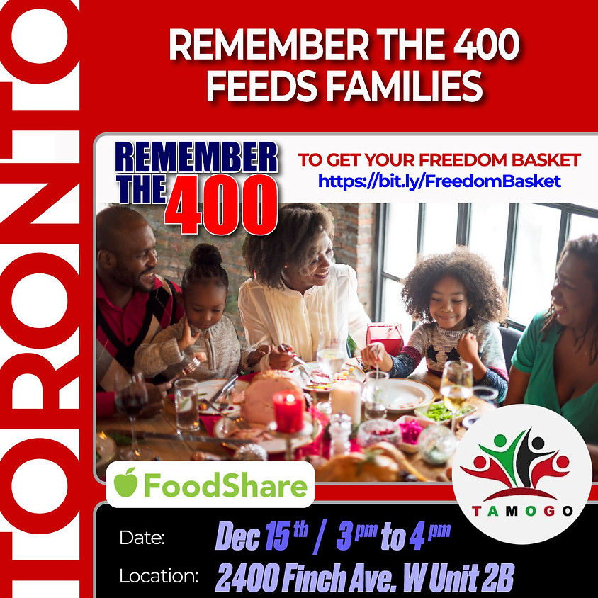 Remember The 400 Feeds Families