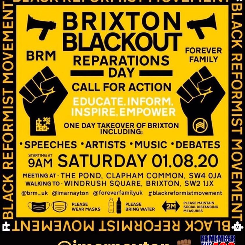 Join rememberthe400 at Brixton Blackout