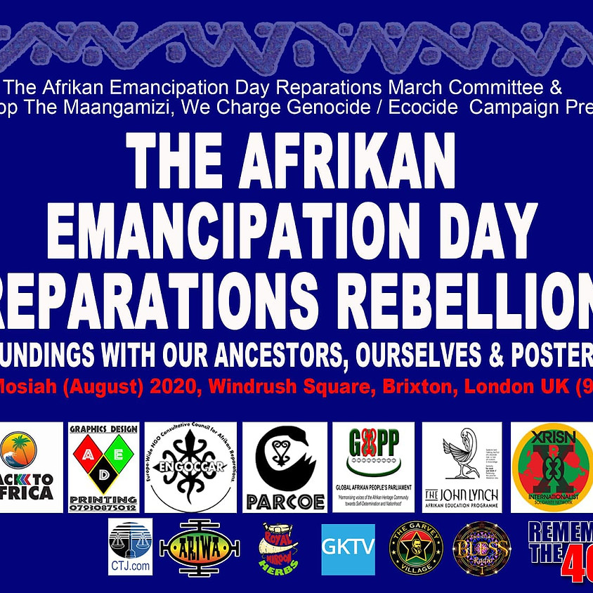 Join rememberthe400 at The African Emancipation Day Reparations Rebellion