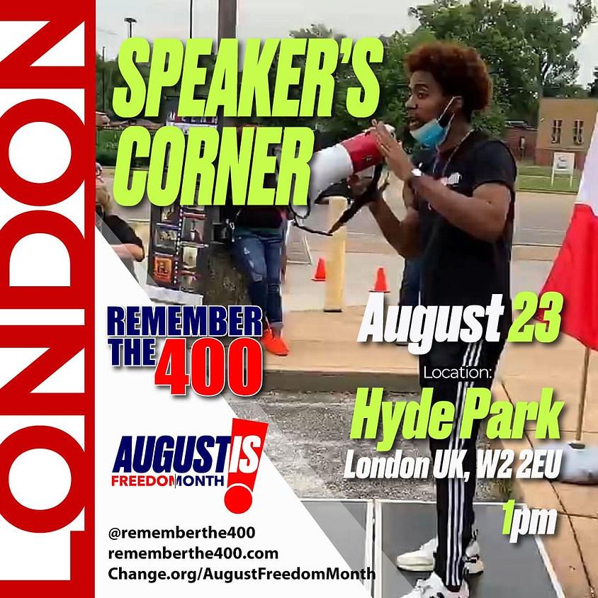 Speaker's Corner: London UK