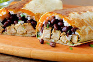 Chicken and Black Bean Burrito