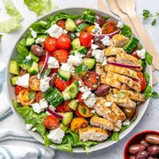 Greek Salad Azure is our most popular w/or without meat option