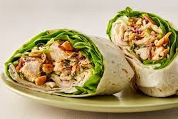 Thai Salad Wrap meat of the day, provides the hint of sweetness, bursting with f