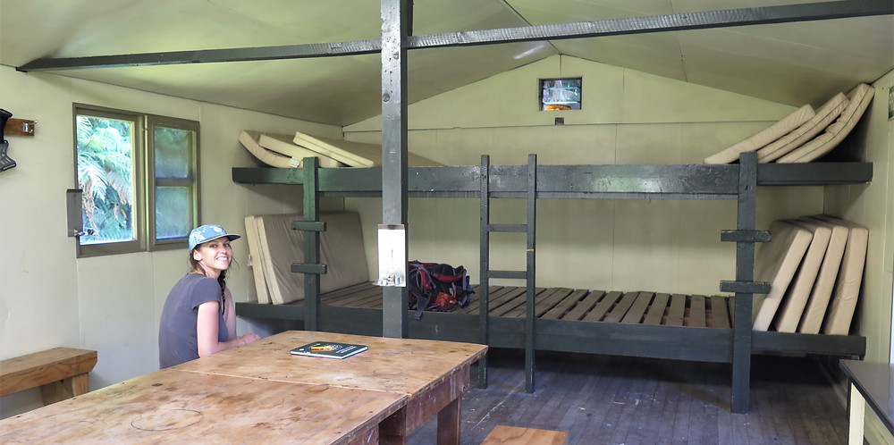 inside lake mckerrow hut hollyford new zealand