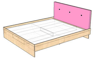 Кровать (корпус) 160х190 с мягкой грядуш