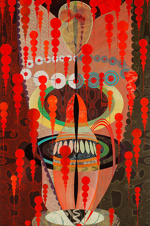 $45/mo Kali Blood Demon Gold Head by Kate Sweeney 54x30