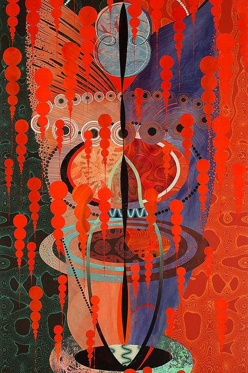 $45/mo Kali Blood Demon Blue Head by Kate Sweeney 54x30