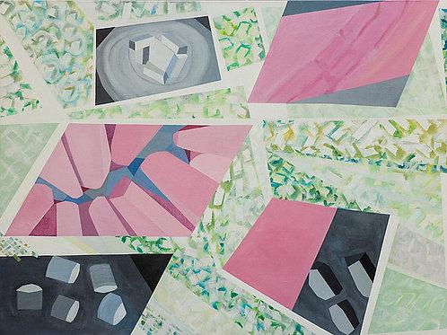 $30/mo Organic/Geometric 43 by Elissa Voland 30x40