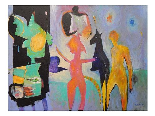 $40/mo Blue Moon Rising by Peter Juvonen 40x60