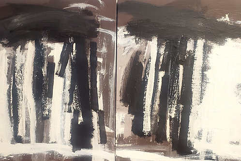 $30/mo Trees by Seya Kim 24x40 (diptych)