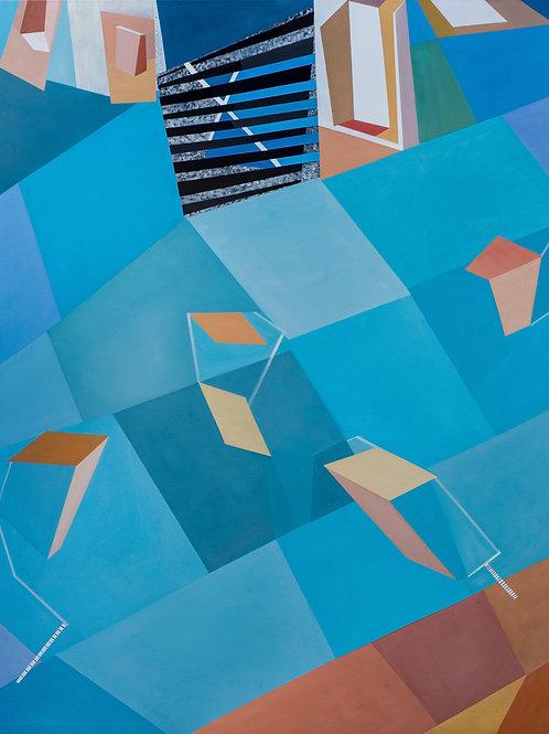 $40/mo Organic/Geometric 48 by Elissa Voland 60x48.5